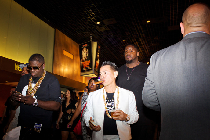 Ticket holders head into the Mayweather vs. Pacquiao super fight at MGM Grand in Las Veags on Saturday, May 2, 2015.